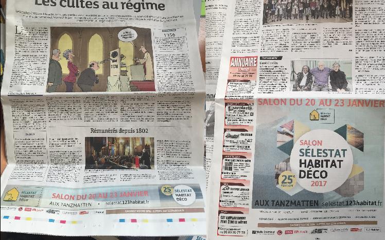 Presse quotidienne locale et régionale - DNA et L'ALSACE - Communication SÉLESTAT HABITAT DÉCO 2017
