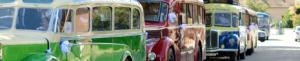 Navettes : des Parkings au Salon Sélestat Habitat Déco en bus anciens Edmond Flecher.